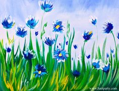 ASL Easy acrylic Painting Abstract Cornflowers art tutorial. This is a fully guided painting party style class of Abstract flowers. If you are familiar with sip and paints this easy acrylic art lesson is perfect to get you painting on your own at home. This is a fully American Sign Language painting art tutorial. #asl https://www.youtube.com/watch?v=r83uq55RAII
