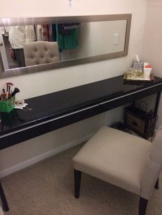 Vanity in the master bathroom closet... I might steal this idea!!! Rome, Ryan Homes