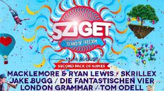 Sziget 2014 line up poster