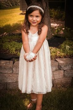 SHORT LACE DRESS | FlowerGirls | Flower Girls Couture | StyleMePretty | Lookbook