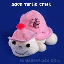 Sock Turtle Craft from www.daniellesplace.com