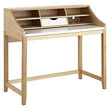 Buy John Lewis Loft Desk, White/Ash Online at johnlewis.com