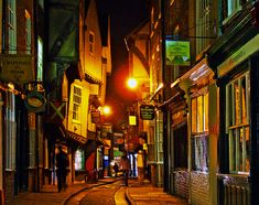 York - England- The Shambles area...possible best preserved streets of medival times.