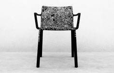 """Design and generosity: a winning combination for a charity auction on the CharityStars online platform.  If you win the exclusive LP chair by Kristalia, decorated by Cento Canesio, you will help to support the Fondazione Umberto Veronesi.  """"Gold For Kids"""", a project set up in 2014 by the Fondazione Umberto Veronesi, supports scientific research in the field of paediatric oncology thanks to funding for the opening and management of treatment protocols for children and adolescents with cancer."""