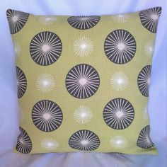 Retro abstract circles cushion/pillow cover by CraftyLittleSharon