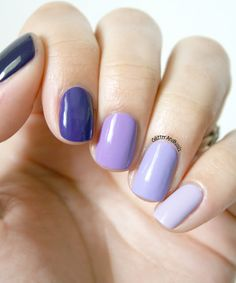 Purple Ombre - Tart-y For The Party by {China Glaze}, 331, 333, 334 by {Kiko} & Lilacism by {Essie}