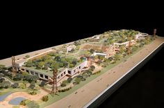 model of facebook's new campus by frank gehry.
