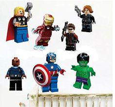 Lego Movie Avengers Wall Stickers Cartoon Captain America Poster for Kid Room swall011 -- To view further for this item, visit the image link.Note:It is affiliate link to Amazon.