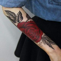 tattoо/red rose