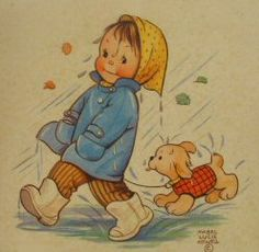 Rain...This was on a table placemat which was sold in England. Illustrated byeMabel Lucie Attwell. | Flickr - Photo Sharing!