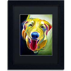Trademark Fine Art Spencer Canvas Art by DawgArt, Black Matte, Black Frame, Size: 16 x 20