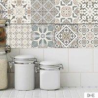 20 100cm Diy Classical European Style Mosaic Wall Tiles Stickers