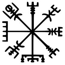 "Vegvisir - The Icelandic word literally means 'guidepost': It is a Norse protection symbol, intended to help the bearer find their way through bad weather. ""if this sign is carried, one will never lose one's way… even when the way is not known"""