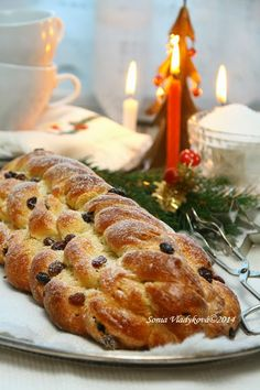 Czech Recipes, Russian Recipes, Ethnic Recipes, Christmas Sweets, Christmas Baking, Challa Bread, Slovakian Food, Y Recipe, Raw Desserts