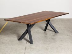 GUSTAVE Walnut table by Miniforms design Paolo Cappello