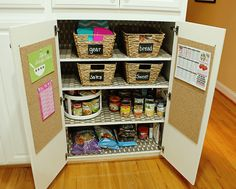 7 tricks to help kids pack their own school lunches. Tricks to help your kids make their own school lunch: Create a lunch packing station, like this one by Uncommon Designs Online School Lunch Organization, Homework Organization, Kitchen Organization, Organization Ideas, Storage Ideas, Closet Organization, Organized Kitchen, Organizing Life, Organising
