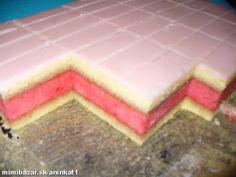 Punch flavored sponge cake