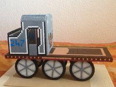 3D tren con plataforma hama beads