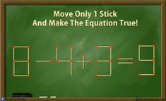 Can you solve these 5 matchstick puzzles riddles? Genius Matchstick Puzzle Riddles with answer. Move only one matchstick and make the equation correct. Take the challenge and solve these best matchstick puzzles. Riddle Puzzles, Logic Puzzles, Logic Math, Mind Puzzles, Brain Teasers Riddles, Jokes And Riddles, Maths Riddles, Funny Riddles With Answers, Math Quizzes
