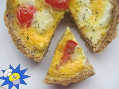 Mozzarellás Protein Quiche | MásTészta Mozzarella, Quiche, Protein, Breakfast, Food, Meal, Eten, Quiches, Meals