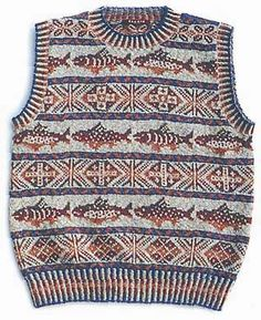 A fair isle design from a Japanese designer. FISHY!!!