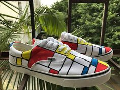 Mondrian Style Shoes Painted Canvas Shoes Vans Shoes Sneakers