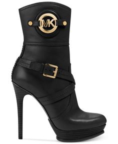 MICHAEL Michael Kors Boots, Stockard Booties Michaelkor is on clearance sale, the world lowest price. --The best Christmas gift Carteras Michael Kors, Sac Michael Kors, Michael Kors Boots, Handbags Michael Kors, Mk Handbags, Fashion Handbags, Burberry Handbags, High Heels Boots, Sexy Boots