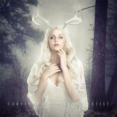 Forest Spirit by Corvinerium.deviantart.com on @DeviantArt
