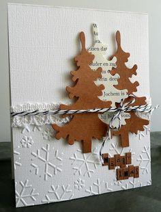 card christmas tree trees Marianne design christmas tree die LR0136 snowflake embossed background paper