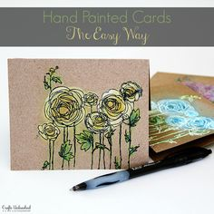 Hand Painted DIY Note Cards - Crafts Unleashed