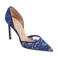Mesh pointed toe d'Orsay pump designed with an elegant lace overlay and satin heel. Finished with tonal grosgrain trim.