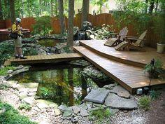 backyard pond in porch | Found on flickr.com