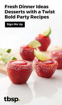 Get fresh dinner ideas, desserts with a twist and bold party recipes—straight to your inbox.