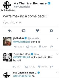 Aw but Brendon needs a band (it's not true, most stuff like this is just photoshopped to look real)