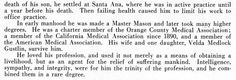 Part 2: Dr. James Randolph Medlock -- Orange County, California, Medical History