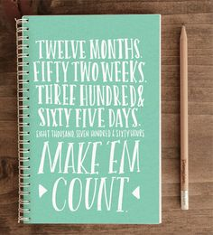 2014 12Month Weekly Planner with Back Pocket  365 by ninjandninj, $30.00