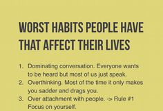 Build good habits from now on!
