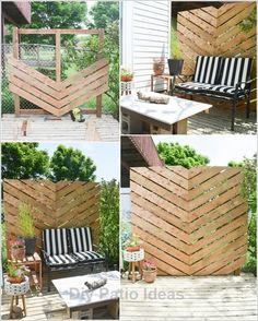 10 Patio Projects Per This Warm Season Balcony Design 10 Patio-Projekte pro dieses warme Jahreszeit-Balkon-Design Diy Garden Furniture, Outdoor Furniture Sets, Outdoor Decor, Diy Patio Furniture Cheap, Rustic Furniture, Furniture Layout, Outside Furniture Patio, Antique Furniture, Modern Furniture