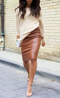 $29.99 Leather Skirt High Waist Slim Skirt