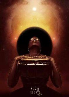 Black art afro god new ideas Art Black Love, Black Girl Art, My Black Is Beautiful, Images D'art, Music Images, Style Afro, Afrique Art, Black Art Pictures, Natural Hair Art