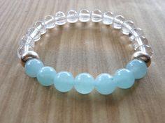 Aquamarine Mala Bracelet Healing & by HickorySpringsDesign on Etsy