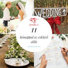 Esküvőszervezés lépései-11 hónappal az esküvő előtt: Rengeteg tennivaló vár Rád, kezd időben! Ha aggódsz, hogy valamit elfelejtettél, vagy elakadtál a szervezésben, lássuk, mik a legfontosabb teendőid 11 hónappal az esküvő előtt! Place Cards, Place Card Holders, Table Decorations, Wedding, Home Decor, Valentines Day Weddings, Decoration Home, Room Decor, Weddings