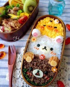 Problemlos Dora Chan Mittagessen The Effective Pictures We Offer You About kids lunch daycare A qual Japanese Food Art, Japanese Lunch Box, Japanese Candy, Cute Baking, Bento Recipes, Bento Ideas, Cute Desserts, Cafe Food, Aesthetic Food
