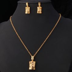 Vintage Jewelry Set 2015 New Platinum/18K Real Gold Plated Rhinestone Party Fashion Jewelnry Earrings Necklace Set For Women