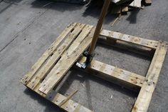 Pallet pry bar- pull your pallets apart without destroying all of the wood-- really NEAT tool!
