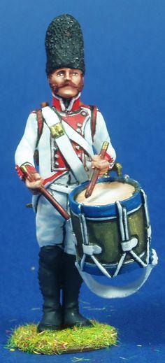 NP 173 REGIMIENTO DE GUADALAJARA 1808 TAMBOR Lead Soldiers, Toy Soldiers, Napoleon, Diorama, Period, Spanish, Empire, Army, Miniatures