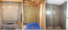 Bathroom renovation, before and after pictures