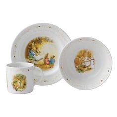 Peter Rabbit Christening Set Mug Plate & Bowl, Wedgwood