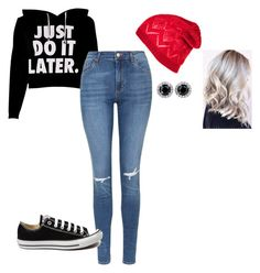 """cold af"" by kksantanemo on Polyvore featuring Topshop, Converse, women's clothing, women, female, woman, misses and juniors"