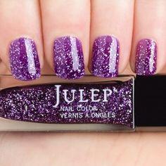 Aviva - Boho Glam: Purple with silver full coverage holographic glitter